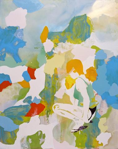 Im Verborgenen  | Tusche, Acryl, Linoldruck u. Öl auf Leinwand | 230 x 185 cm