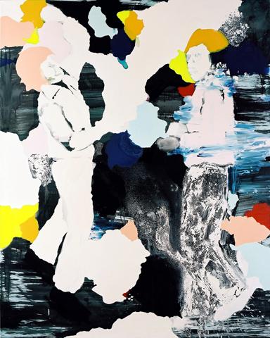 Komm Tanzen  | Tusche, Acryl u. Öl auf Leinwand | 320 x 185 cm