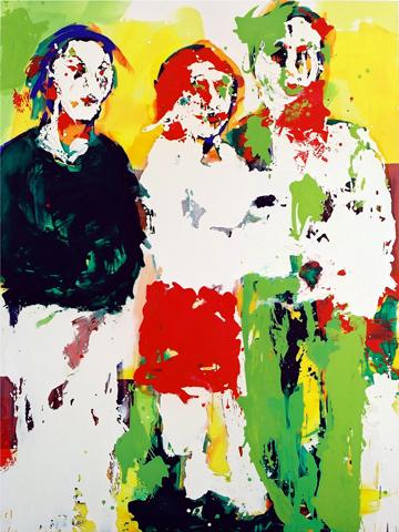 o. T. 3  | Tusche, Acryl u. Öl auf Leinwand | 200 x 150 cm