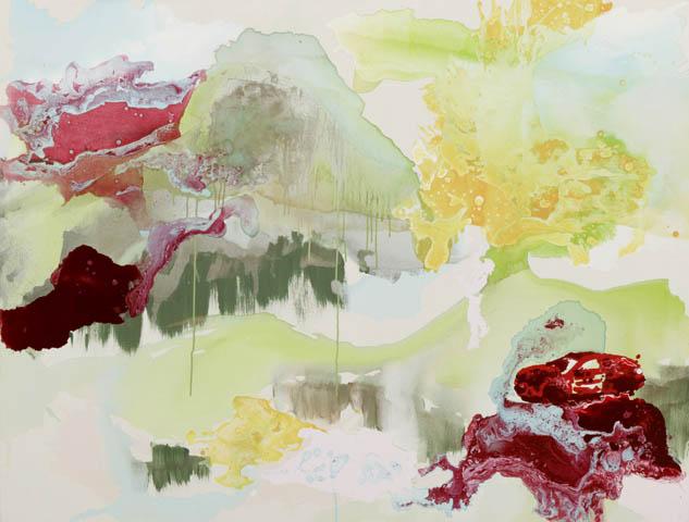 o. T. 4  | Tusche, Acryl u. Öl auf Leinwand | 200 x 200 cm