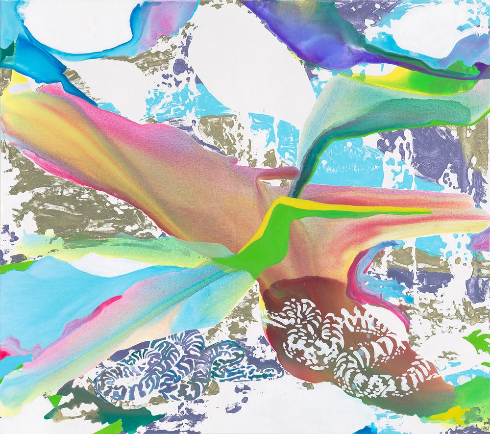 Nenn es, wie du willst.  | Acryl, Tusche und Linoldruck auf Leinwand | 140 x 160 cm