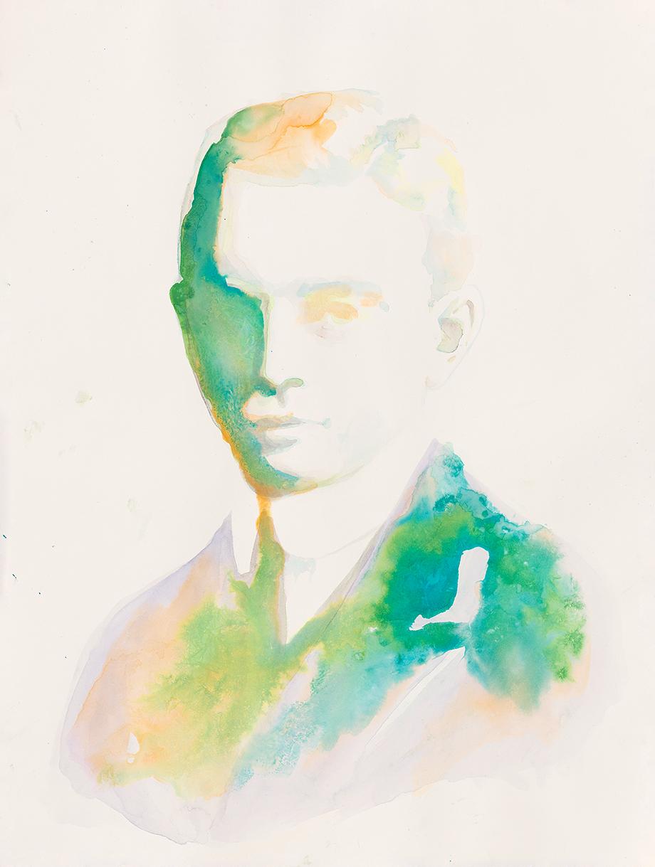 Georg Heym  | Aquarell auf Büttenpapier | 61 x 46 cm