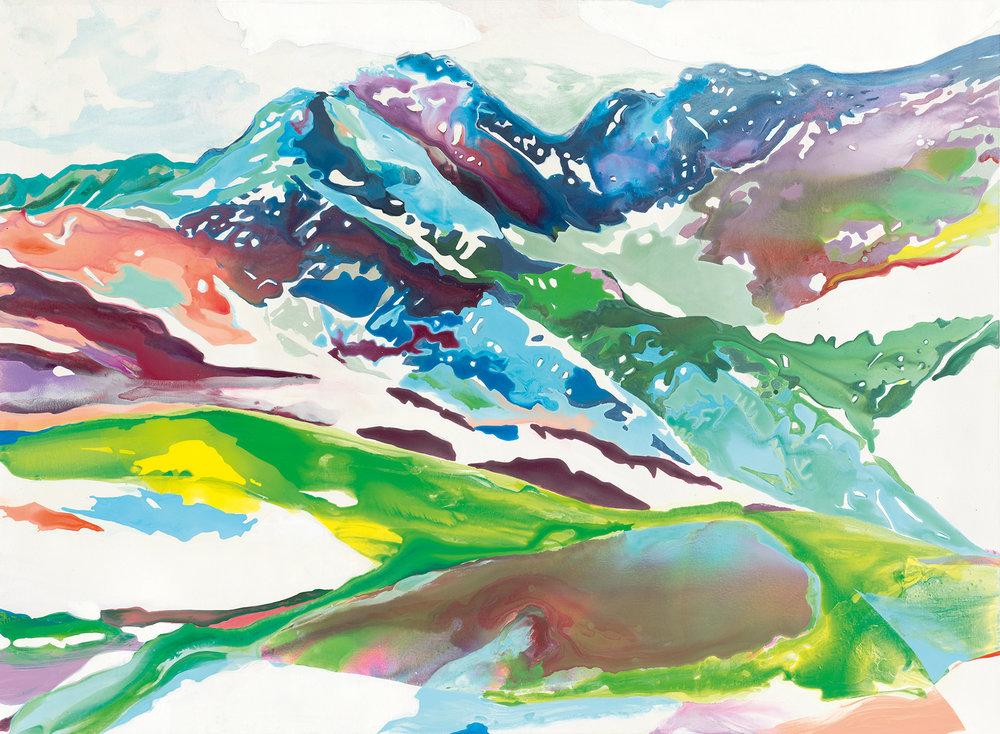 Entrückte Welten | Tusche, Acryl und Öl auf Leinwand | 160 x 220 cm