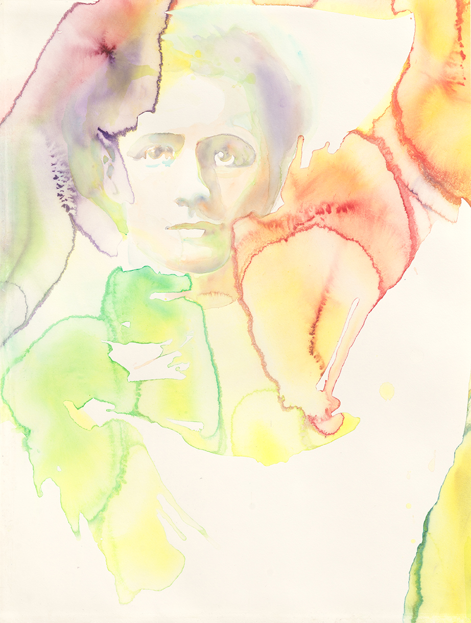 Marie Curie - The Future Of An Illusion  | Aquarell auf Büttenpapier | 61 x 46 cm