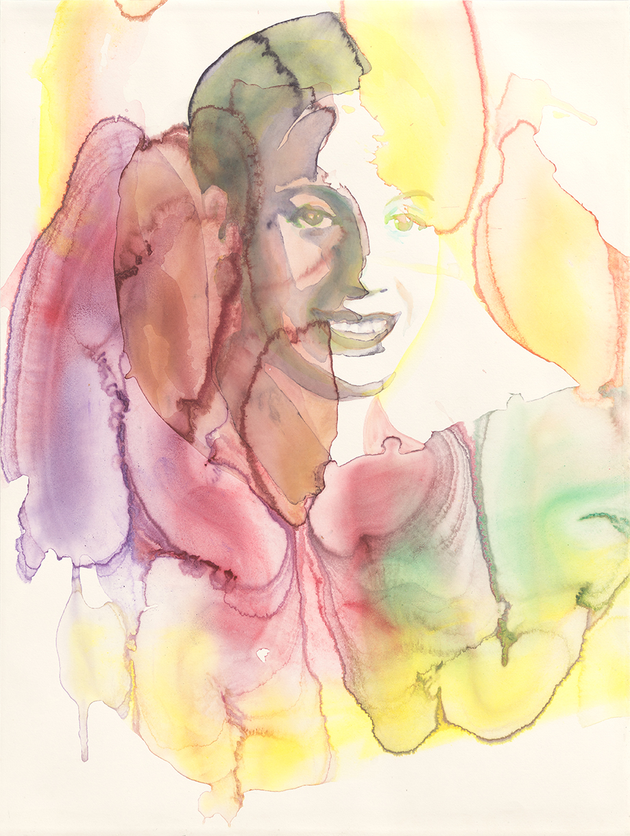 Eva Perón   - The Future Of An Illusion  | Aquarell auf Büttenpapier | 61 x 46 cm