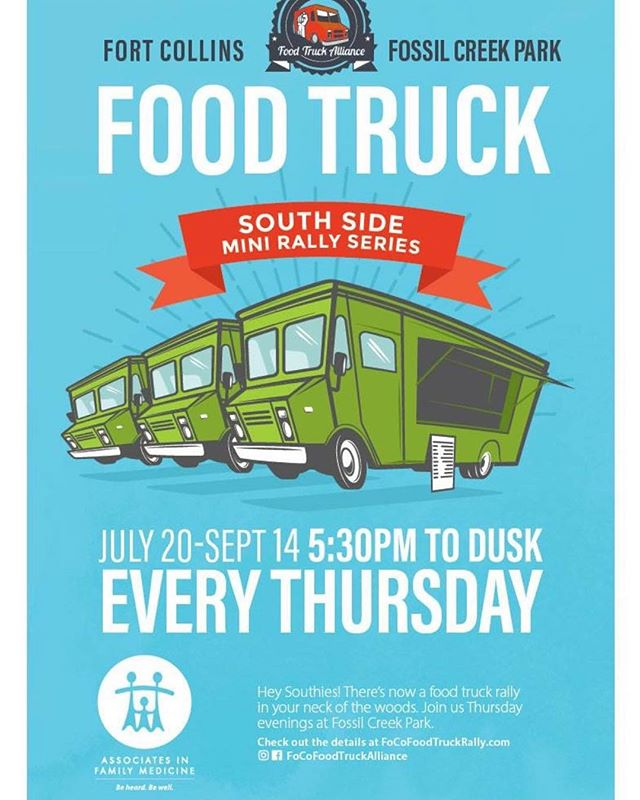 Hello Weirdos, the south side of Fort Collins now has its own Food Truck Rally at Fossil Creek Park. Come out and enjoy all the awesome food options available. #tacos #focofoodtrucks #summerfun #nomorerain