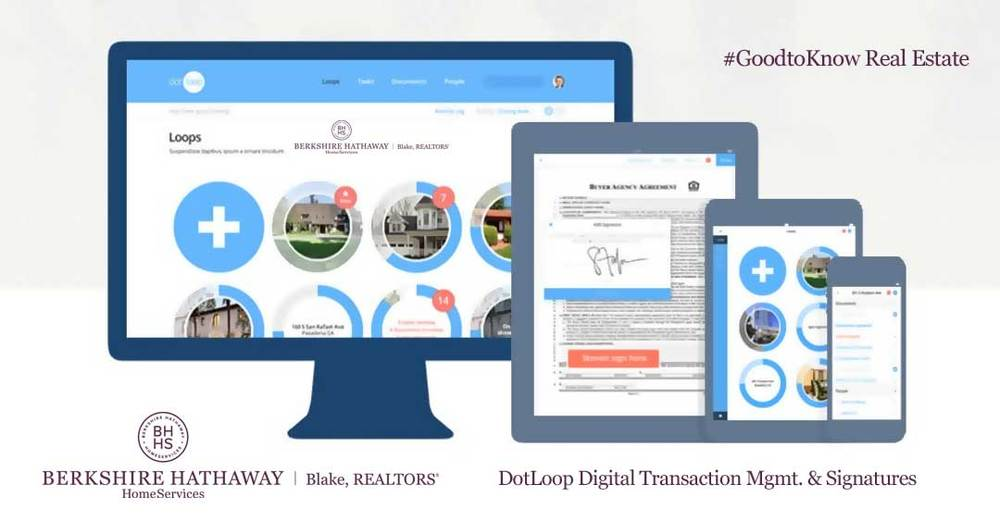 We use DotLoop Transaction Management and Digital Signature Software...  Berkshire Hathaway Blake Realtors please contact  nseguin@bhhsblake.com  or your branch manager about access and training.