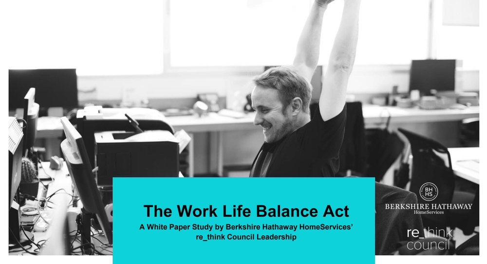 Check out the latest re_think Council white paper: The Work Life Balance Act.  The Council isn't only about picking up new stuff, it's also about rethinking what works and reapplying it. This white paper details how top producers manage a work life balance in the real estate industry utilizing both the FISH! Philosophy  and  Gino Blefari 's  Ten Keys to Success.    Read here   .      Crack it open today  to learn how these top-producing real estate agents do it all.
