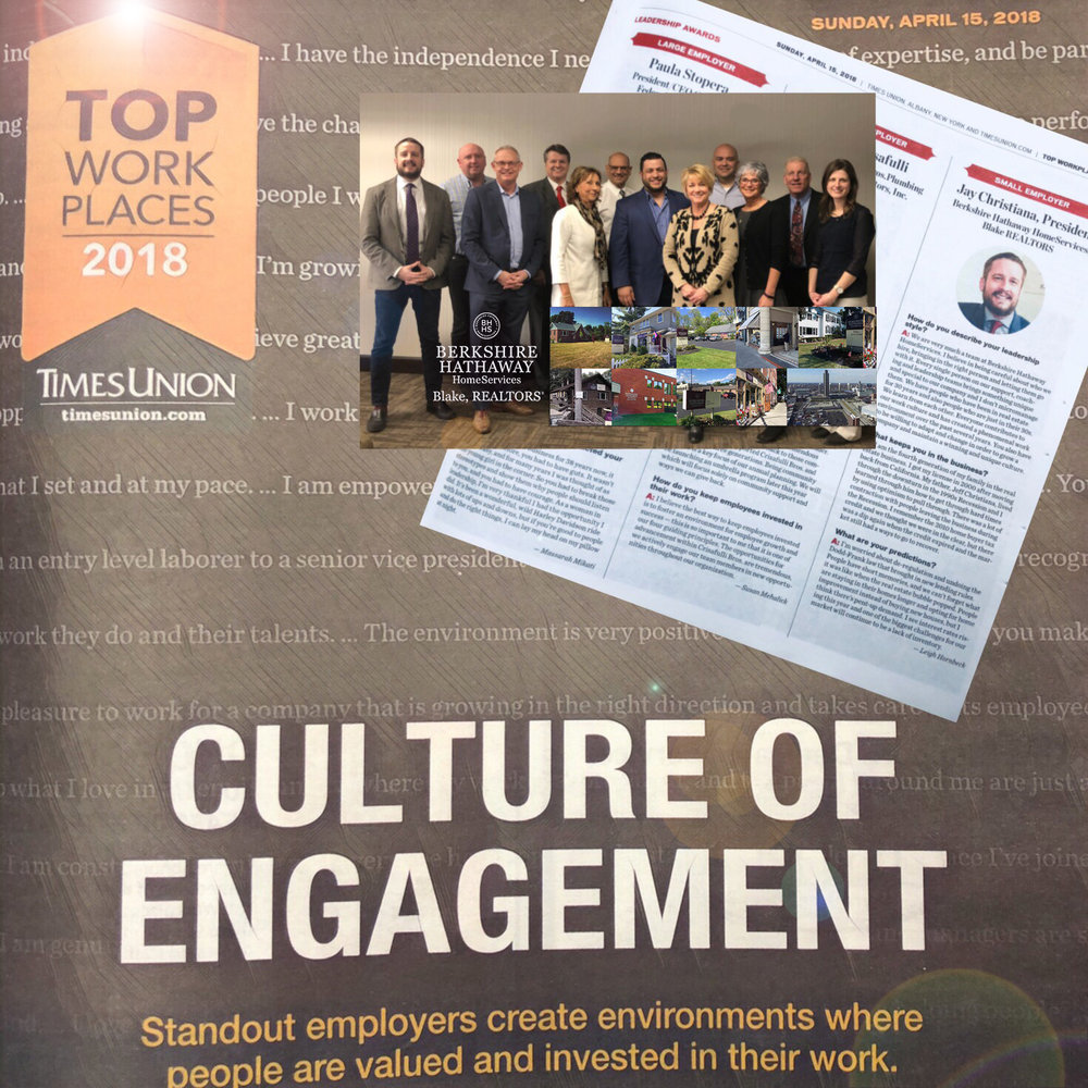 "Proud to be one of the 50 ""Top Workplaces"" for 2018 and recipient of leadership award."