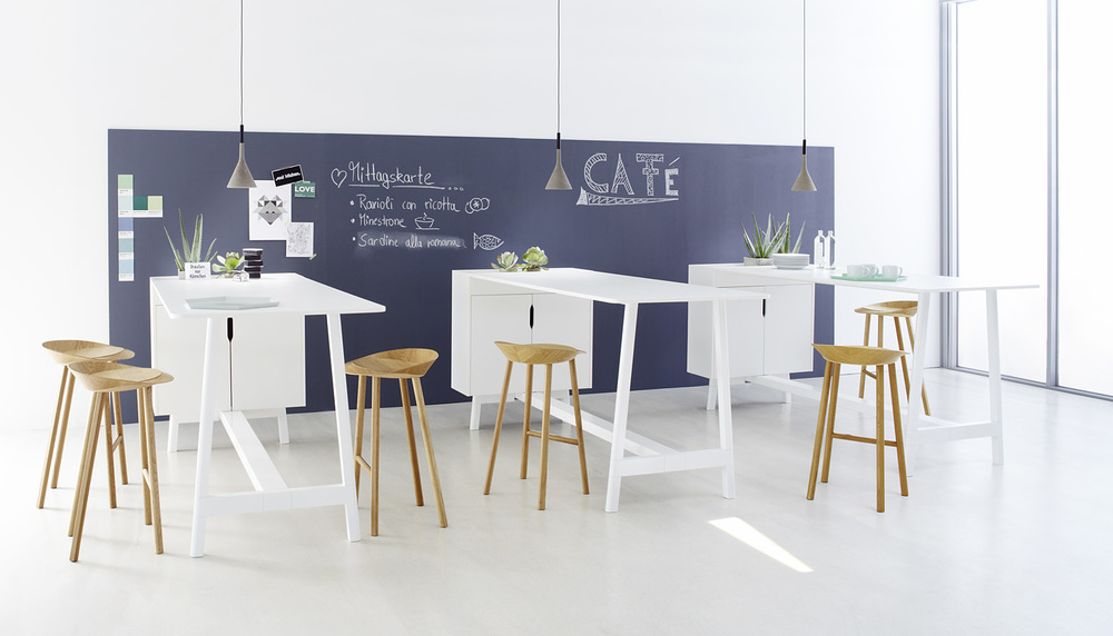 Ophelis Docks Standing Height tables from The Collective