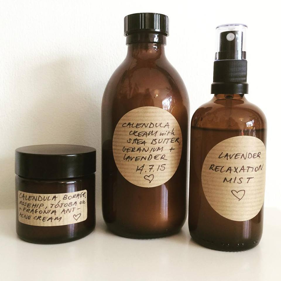 Some of Clear Skin Holistically's natural, chemical free homemade skincare range.
