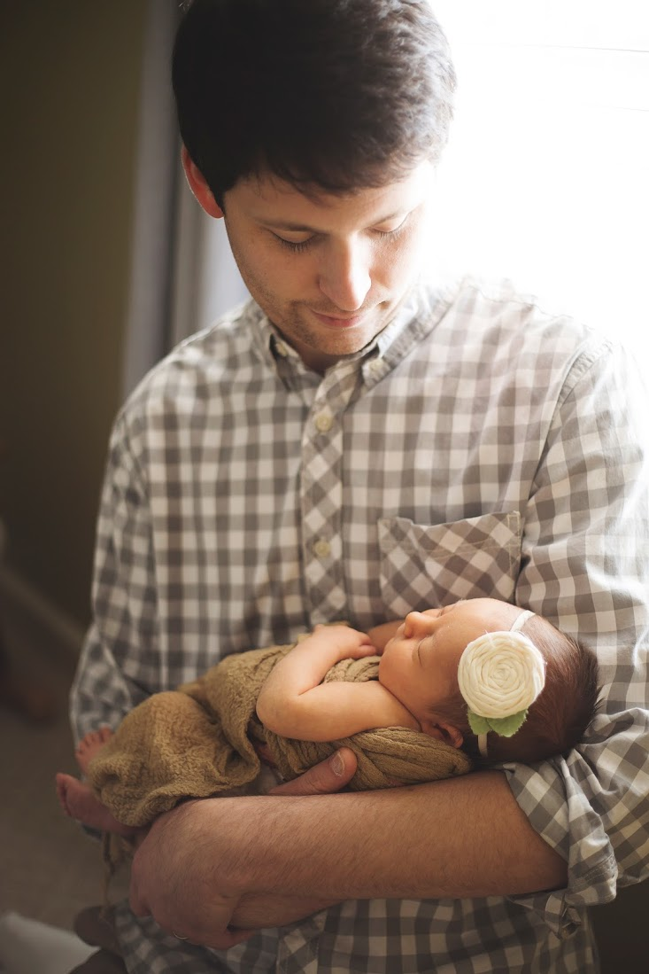 My husband was amazing during her birth experience! He pushed me through the most painful hours and was such a comfort.