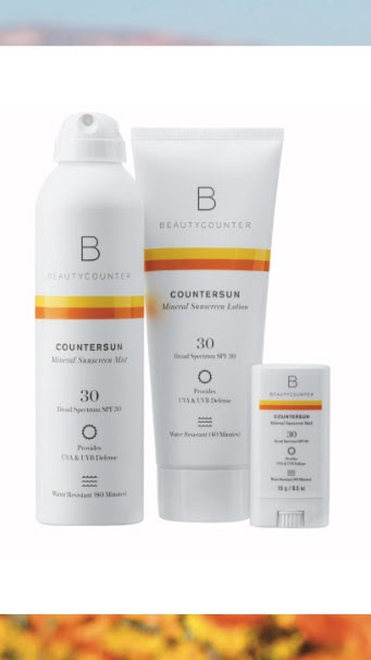 New Countersun Mineral Sunscreen Available in spray, lotion and stick