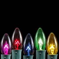 ASSORTED TRANSPARENT C9 BULBS