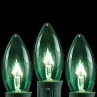 TRANSPARENT GREEN C9 BULBS