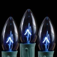 TRANSPARENT BLUE C9 BULBS