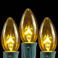 TRANSPARENT YELLOW C9 BULBS