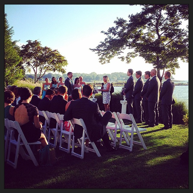 Ceremony on the bay!