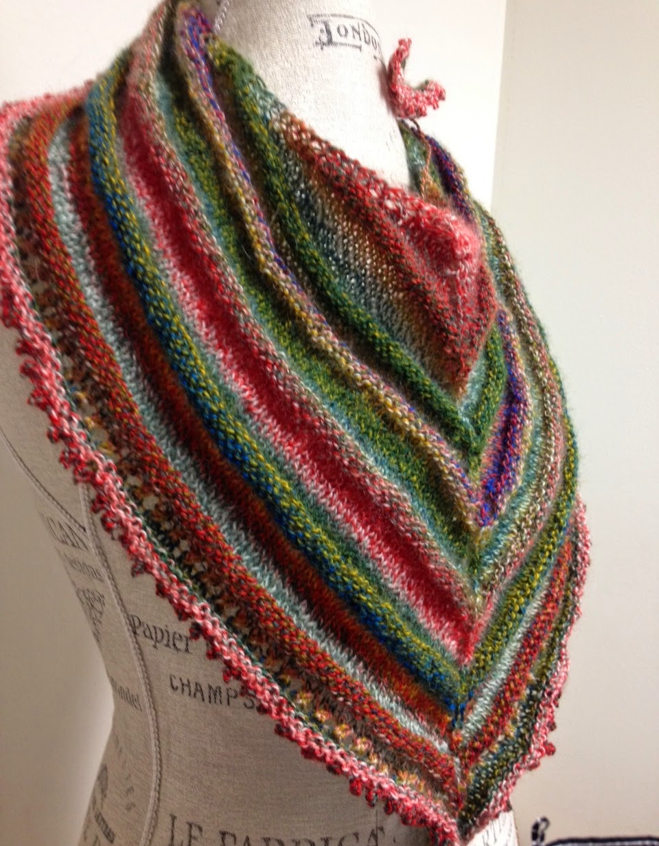 Spring Breeze Shawl Knitting Pattern