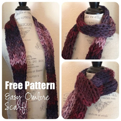 Easy Ombre Scarf Free Knitting Pattern Blogbleknits