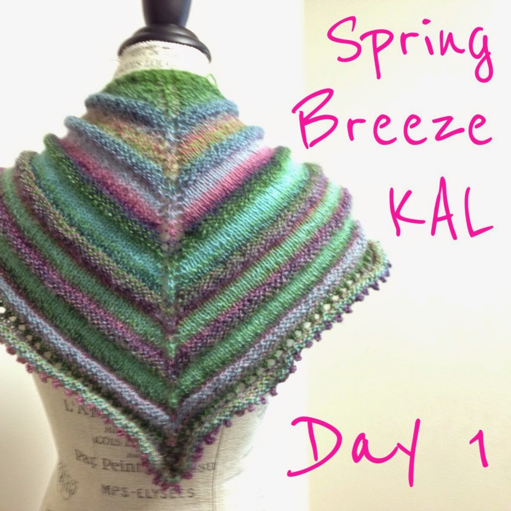 Spring Breeze Shawl KAL Day 1