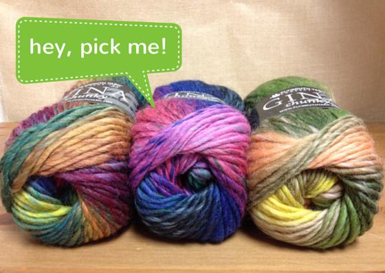 Which Plymouth Gina Chunky yarn shade will you choose?