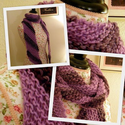 Free Knitting Pattern Easy Diagonal Scarf Blogbleknits
