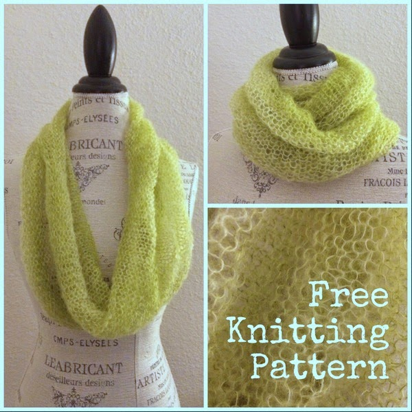 Halo Cowl Free Knitting Pattern