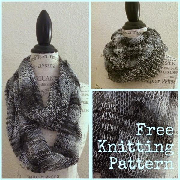 Infinity Scarf Knitting Pattern Size 17 Needles : Ballerina Infinity Tube Scarf Free Knitting Pattern ...