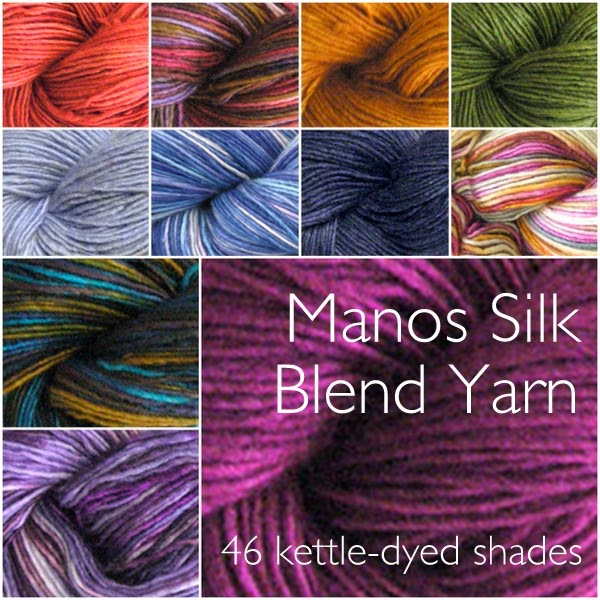 Which shade of Manos Silk Blend yarn will you choose?