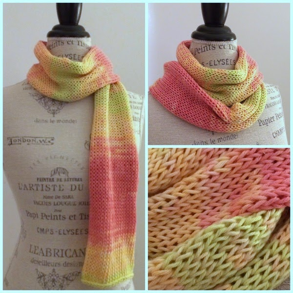 Free Knitting Pattern: Ty-Dy Sunrise Scarf