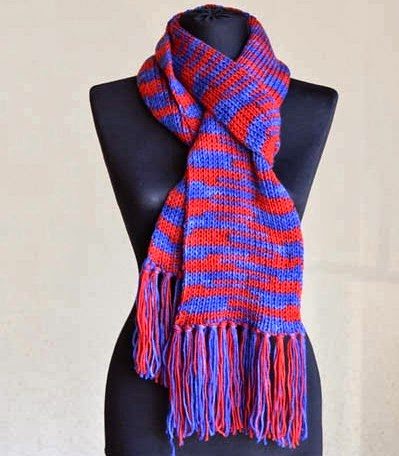 Stadium Scarf Free Knitting Pattern