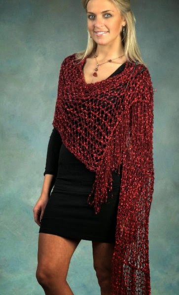 Plymouth Eros Wrap Free Knitting Pattern