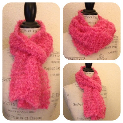 One Skein Knitting Patterns : Be Sweet Boucle One-Skein Scarf Free Knitting Pattern ...