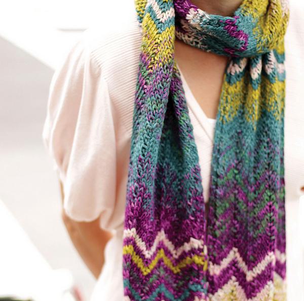 Chevron Stripes Scarf Free Knitting Pattern — Blog.NobleKnits