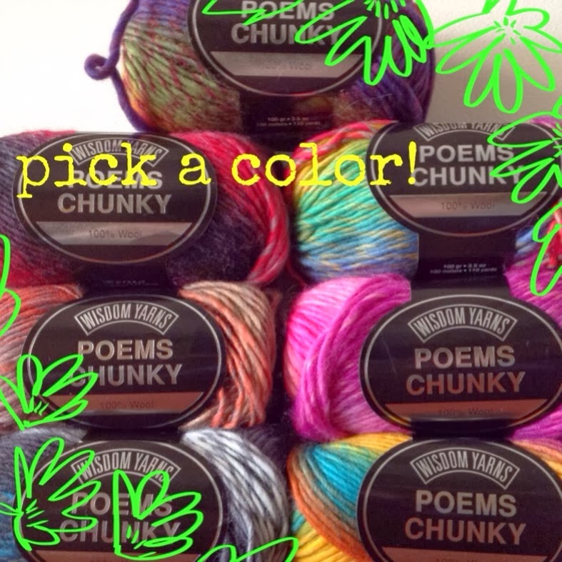 What shade of Wisdom Poems Chunkyyarnwill you pick?