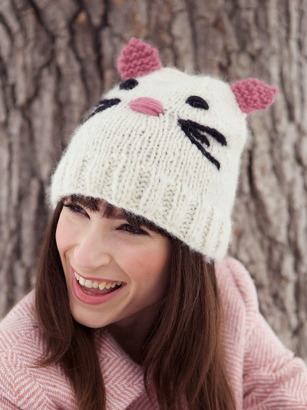 Knitting Pattern For Kitty Hat : Catarina Cat Hat Free Knitting Pattern   Blog.NobleKnits