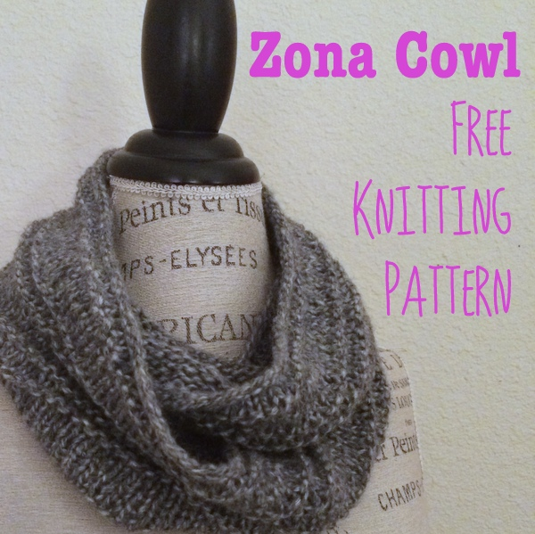 Knitting Pattern For Scarf In The Round : Zona Cowl Free Knitting Pattern   Blog.NobleKnits