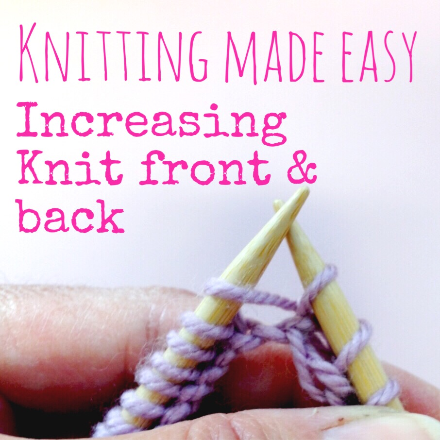 How To Increase Stitches While Knitting : Knitting Increase: Knit Front & Back (kfb)   NobleKnits Knitting Blog