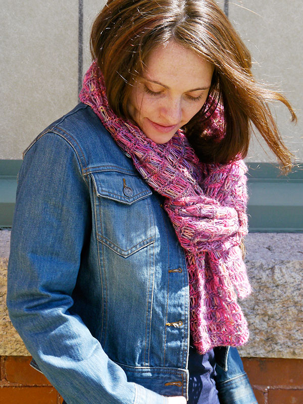 Quick Scarf Knitting Pattern with Boboli Lace   Blog.NobleKnits