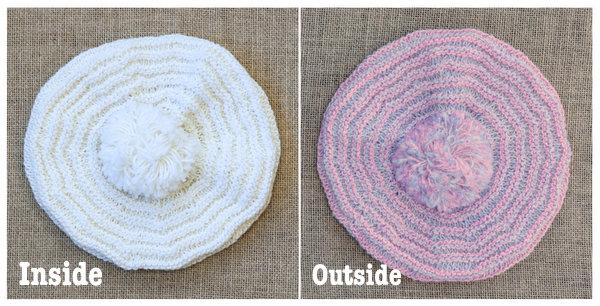 Alakazam Tam Free Pattern featuring UV color changing yarn, Abracadabra!