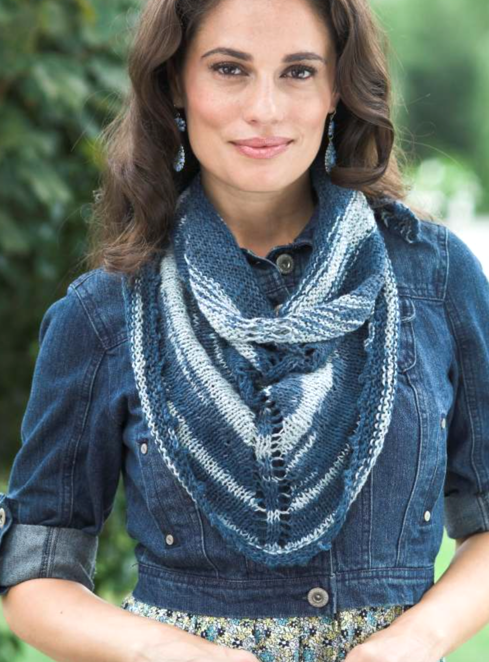 Linen Concerto Picot Scarf Free Knitting Pattern