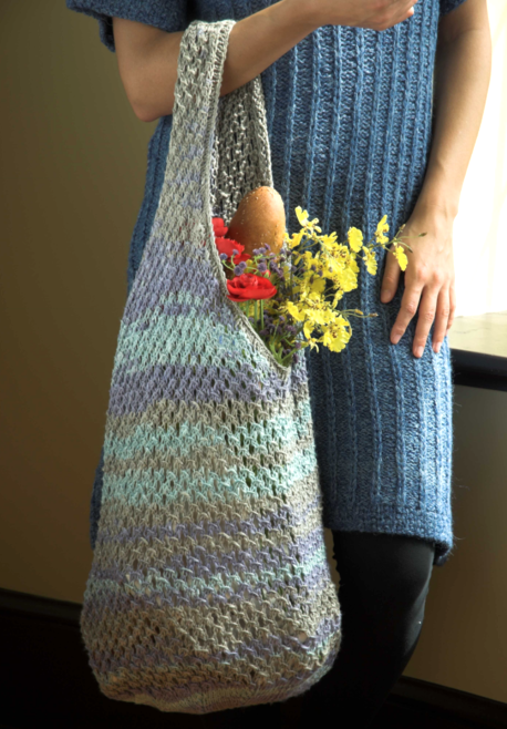 Double Knitting Bag Pattern : Linen Concerto Knit Bag Free Pattern   Blog.NobleKnits