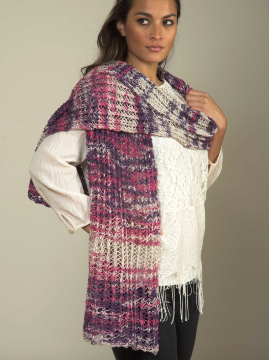 Linen Concerto Lace Shawl/Stole Free Knitting Pattern