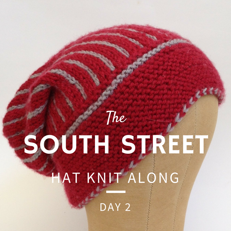 South Street Hat Knit Along - Day 2