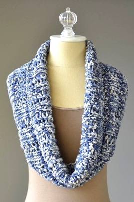 Denims Cowl Free Knitting Pattern