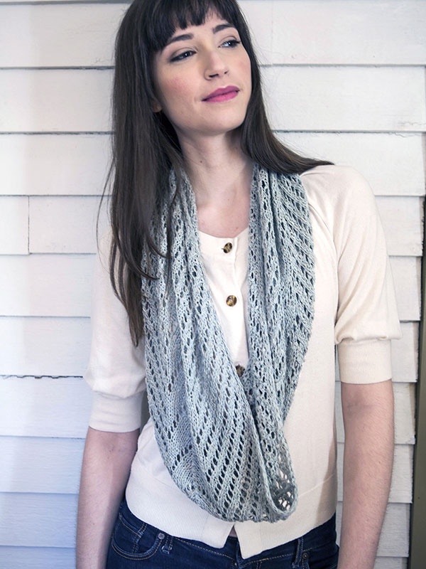 Align Lace Cowl Free Knitting Pattern