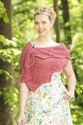 Asymmetric Shawlette Free Knitting Pattern