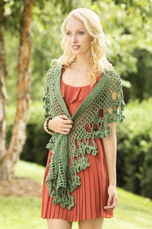 Flowering Herb Scarf Free Crochet Pattern