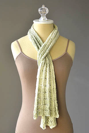 Botanical Scarf Free Knitting Pattern